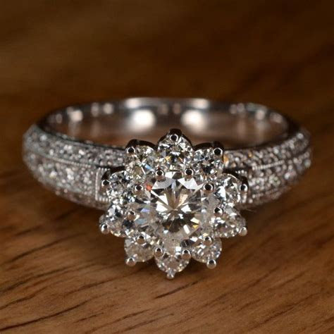 Best 25  Flower engagement rings ideas on Pinterest