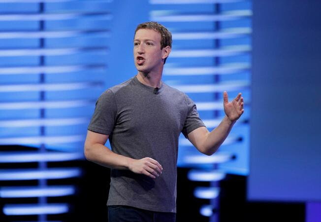 Facebook CEO Mark Zuckerberg delivers the keynote address at the F8 Facebook Developer Conference on Tuesday, April 12, 2016, in San Francisco.