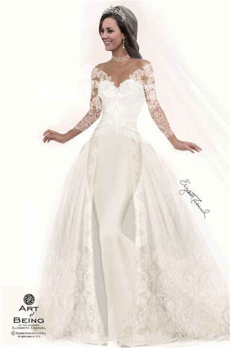STUNNING Princess Kate!!   Elizabeth Emanuel Designs 7