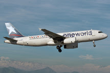 One World Alliance: <br> Airbus A320 LV-BFO: