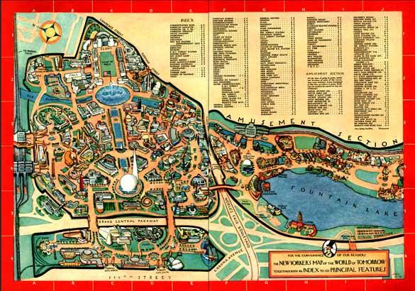 1939 World's Fair Map