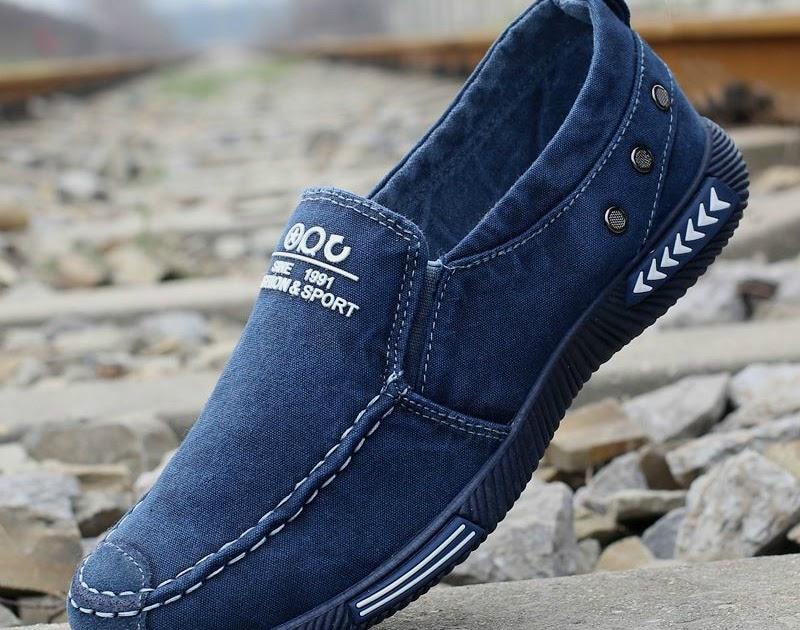 Para De Zapatos Con Hombre Casuales Cordones Comprar Lona Mezclilla x0wXvx