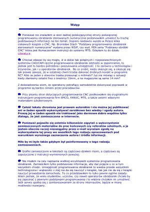 Sterowanie FANUC EMCO MTS Sinumerik | CNC Manuals