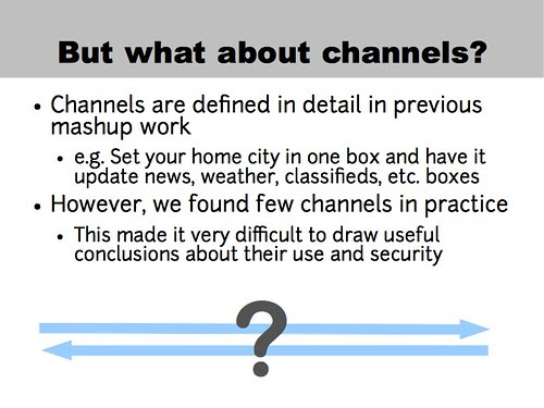 But what about channels?