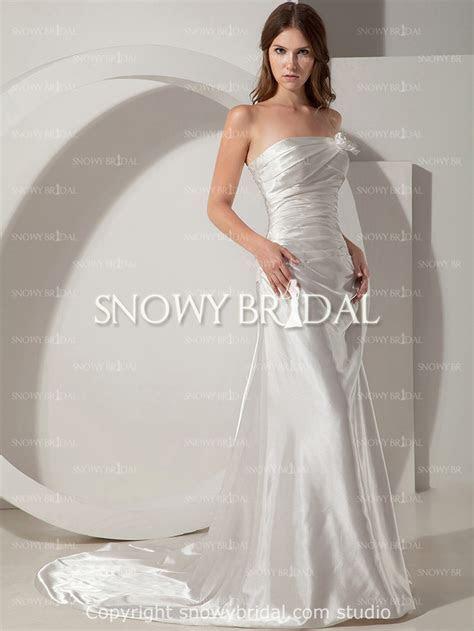 In Stock Free Shipping Ivory Taffeta Wedding Dress Cheap