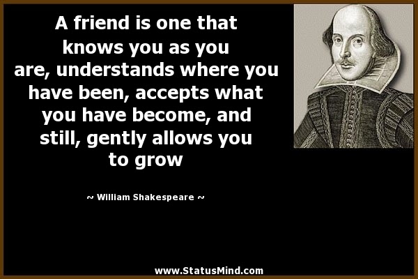 A Friend Is One That Knows You As You Are Statusmindcom