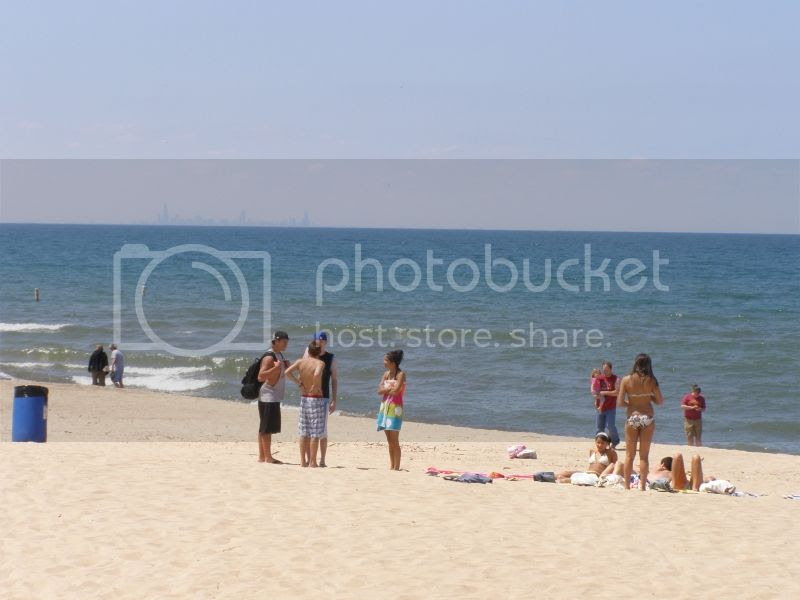 Silver Beach on Lake Michigan