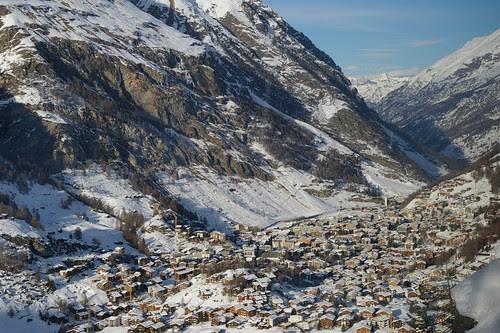 下山一景 在山中的小村莊