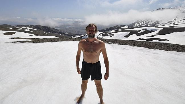 Wim Hof is a 56-year-old Dutchman who can manipulate his body so it doesn't feel cold.