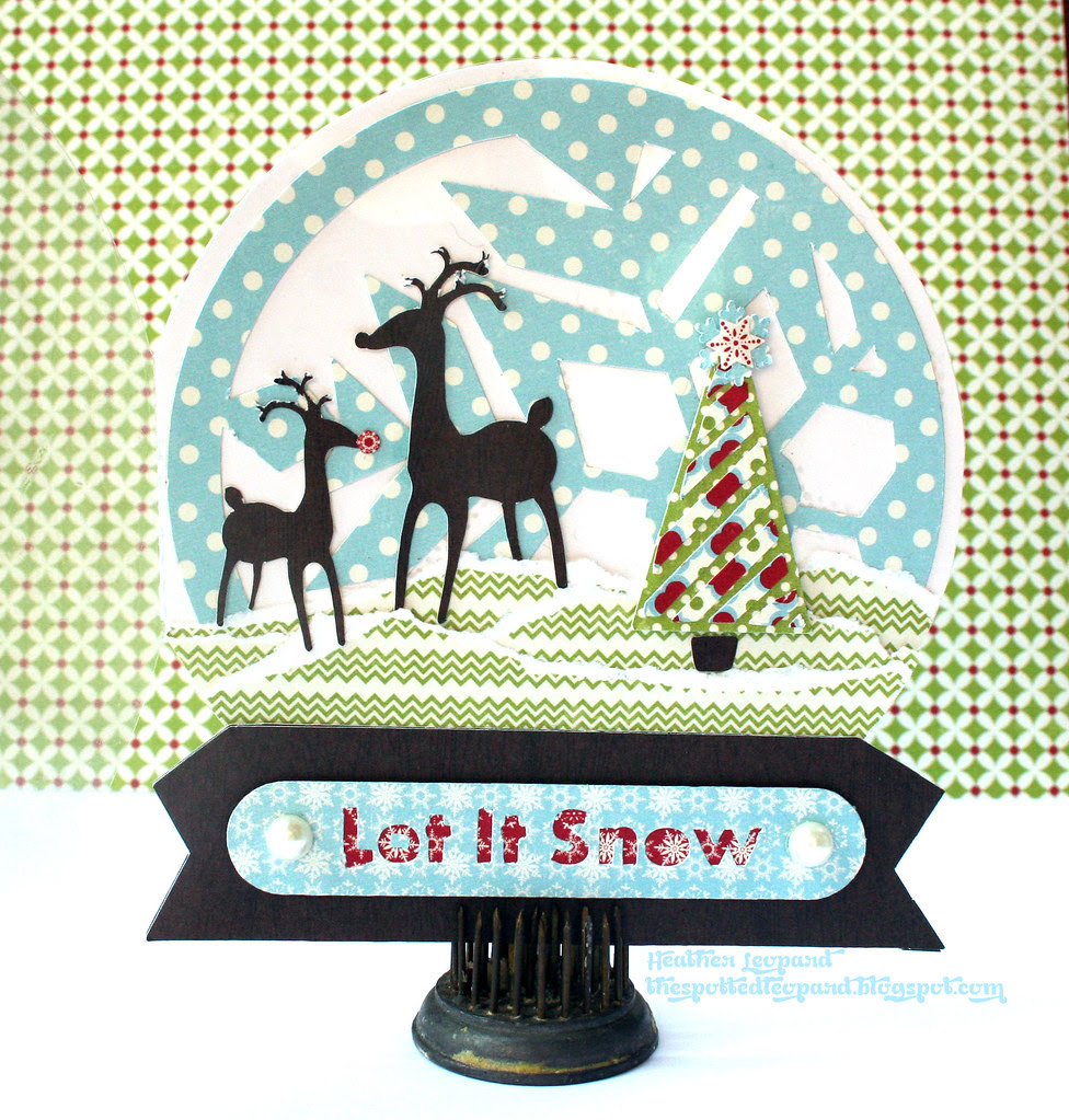Snow Globe Card Heather Leopard