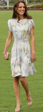 Kate Middleton wearing beige strappy sandals