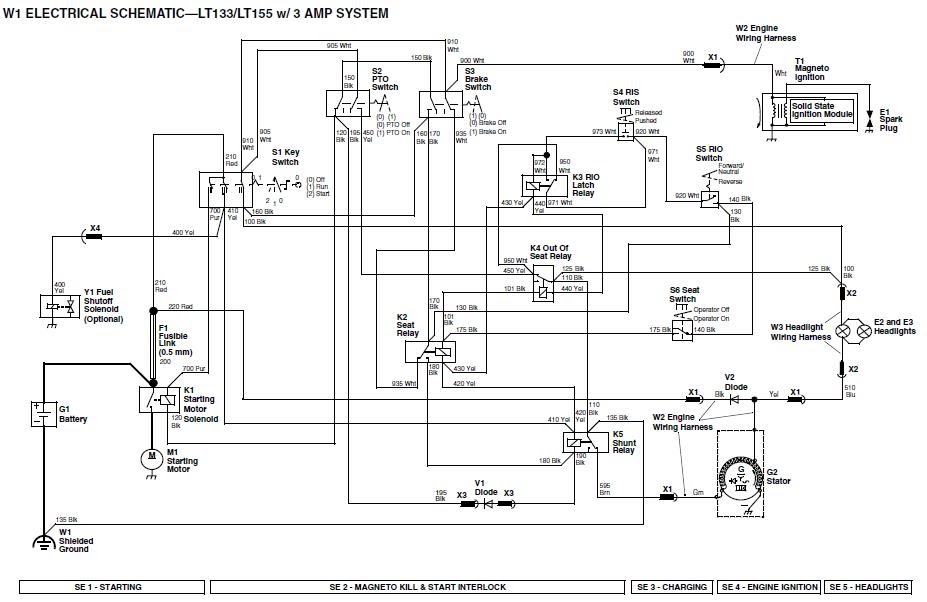 lt155 john deere ignition wiring diagram john deere ignition wiring diagram