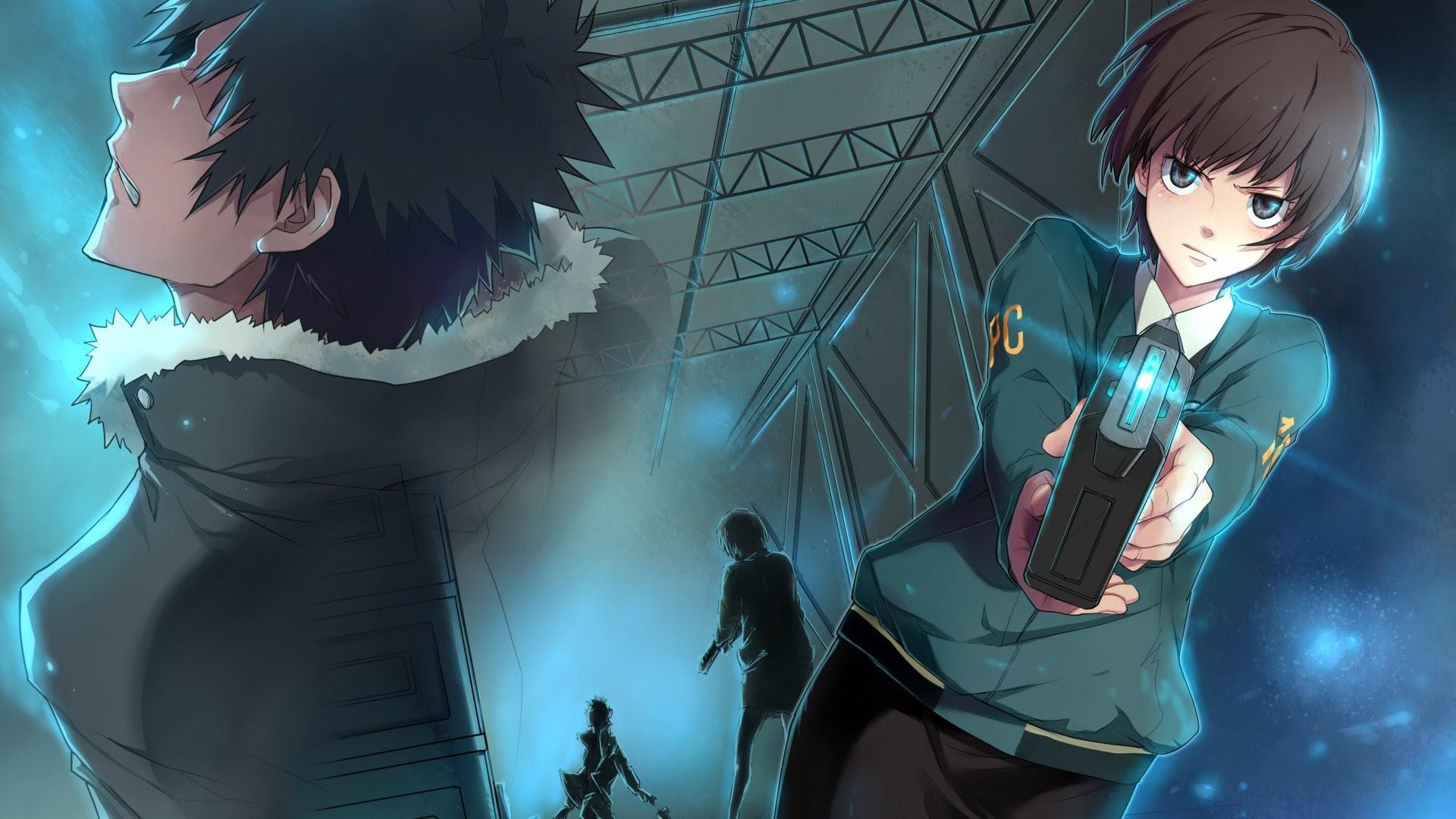 1920x1080 Psycho Pass Shinya Kogami Tsunemori Akane Anime Wallpaper
