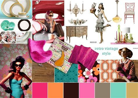 Moodboard Inspiration: Fashion Design   Retro Vintage