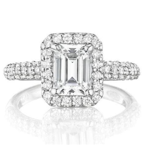 1 Carat Emerald Forever Brilliant Moissanite Diamond Halo