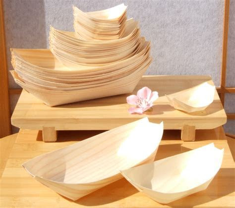 Bamboo Wood Boats large standard & mini 50 100 100 for