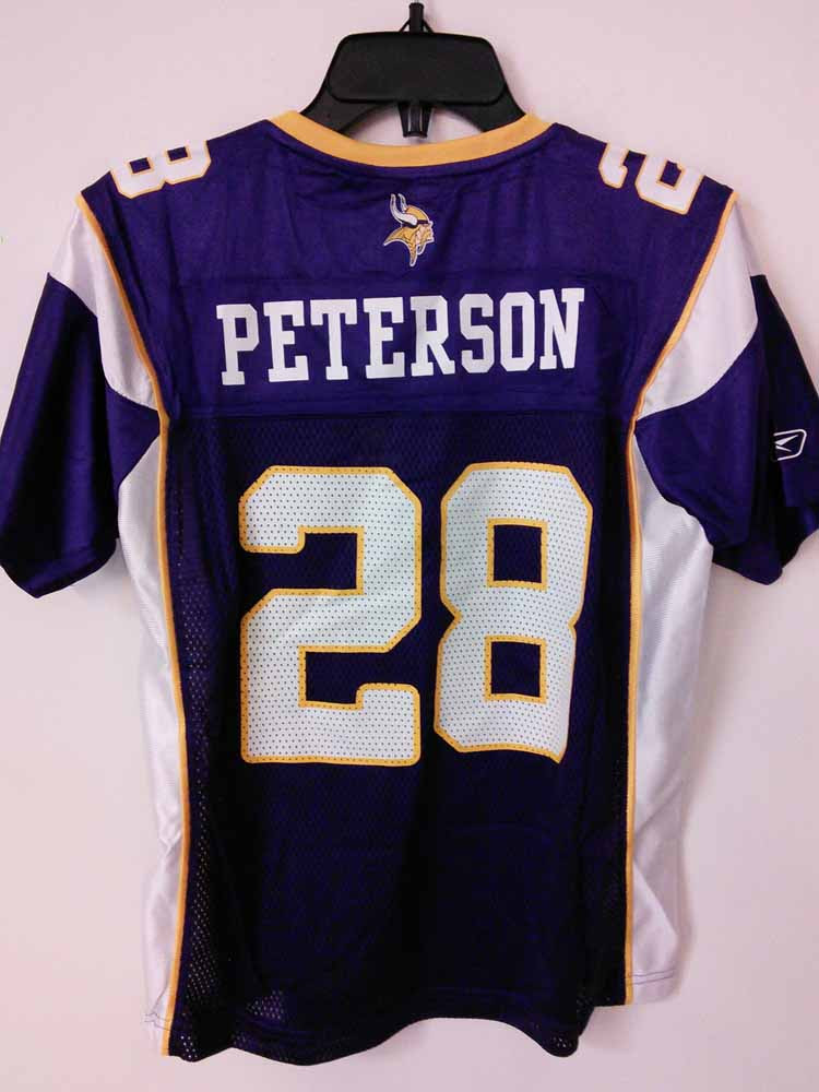 Reebok Womens NFL Jersey Vikings Adrian Peterson Purple sz M  eBay