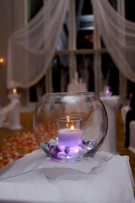 Beautiful glowing glass centerpiece:   CRAFT IDEAS