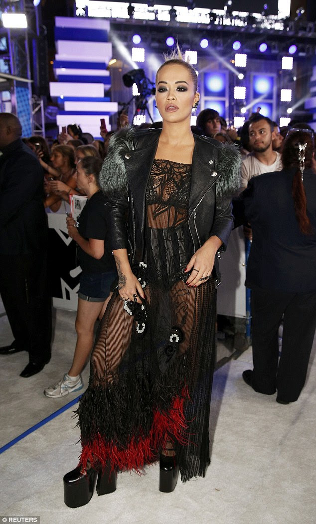 Making an impression! Rita Ora proved she has all the credentials for the role as she arrived at the MTV VMAs in Madison Square Garden, New York on Sunday night