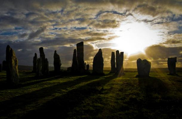 The Callanish standing stones on the Isle of Lewis.