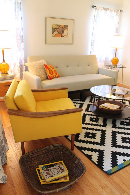 Mid Century Modern Living Room - Small Bungalow - midcentury ...