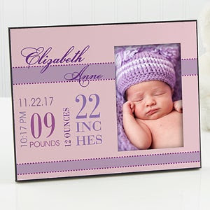 Babys Big Day Personalized Frame For Girls Picture Frames