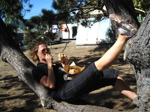The tree is not only for yoga poses.