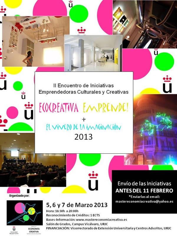 IMÁGENES- CARTEL- ECOCREATIVA Emprende! 2013: Barilai Estudio, Rafa Armero y Studio Banana
