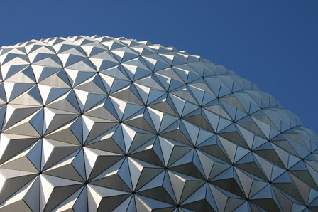 epcot blue sky afternoon