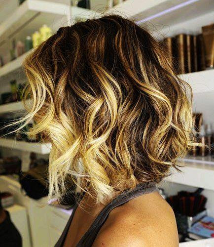 Brown To Blond Ombre Short Hair