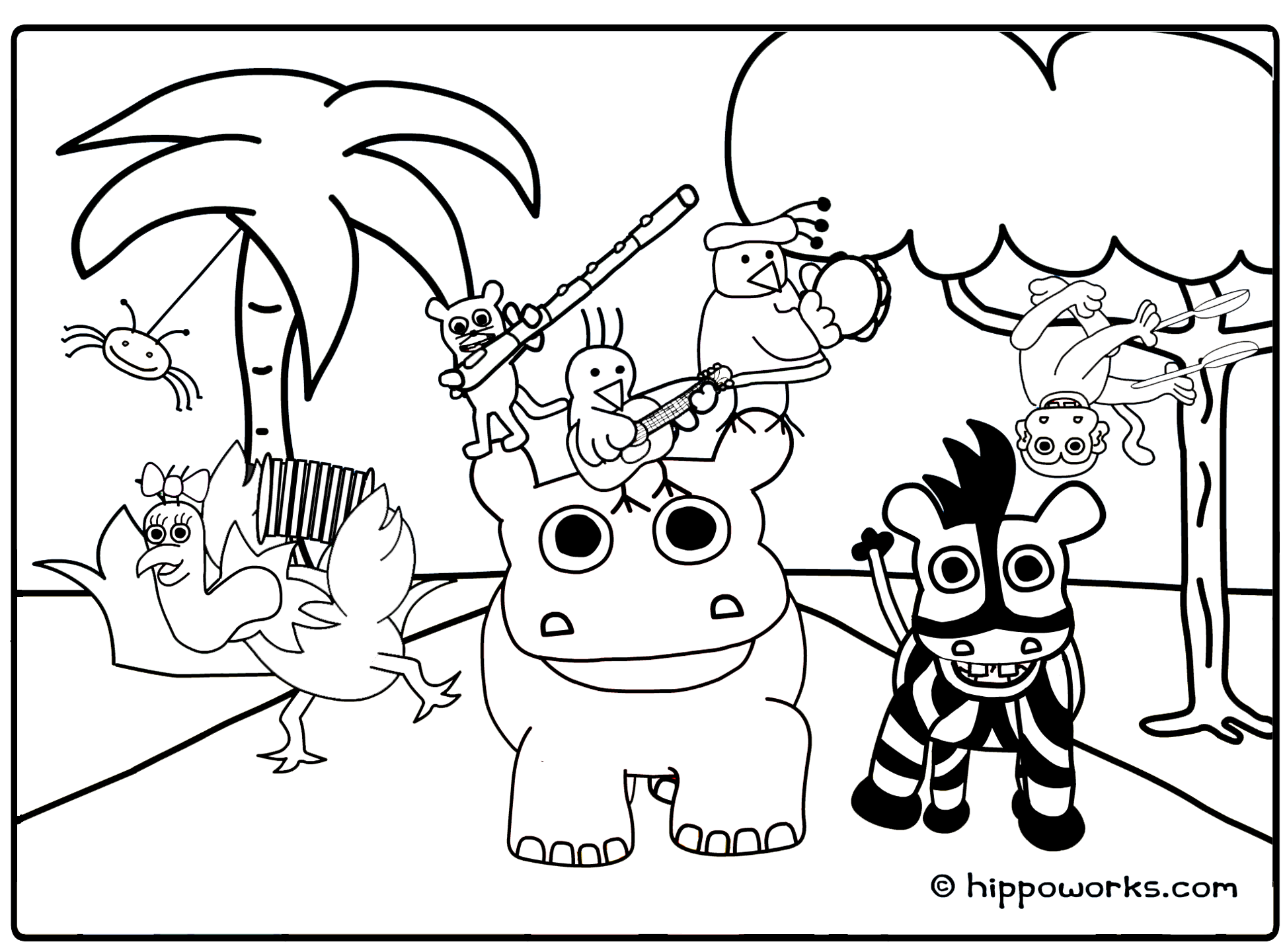 86 Top Coloring Pages For Animals In The Jungle , Free HD Download