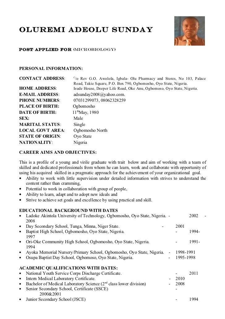 Curriculum Vitae: Curriculum Vitae Medical Student