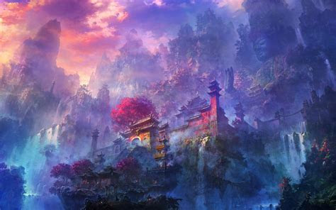 visit  fascinating fantasy worlds  li shuxing