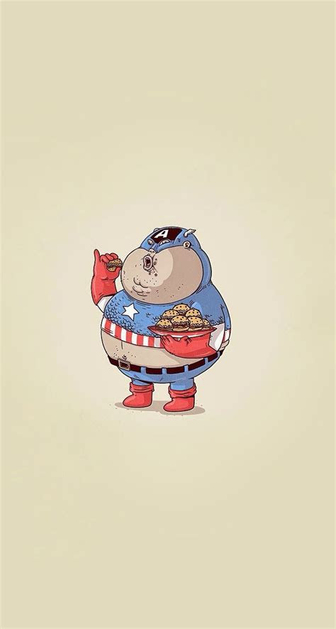 fat captain america superheroes iphone wallpaper