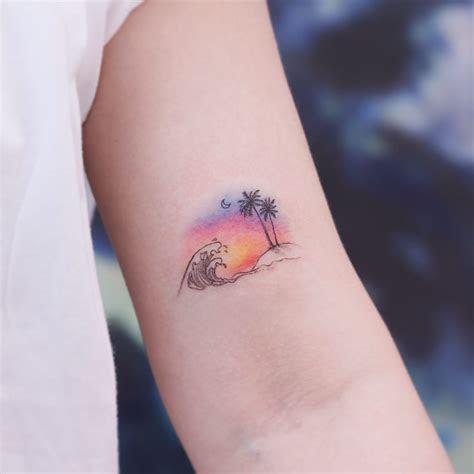 tattoo uploaded  tattoodo sunset   island