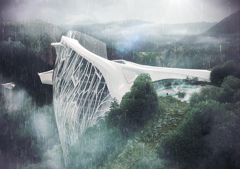 armin senoner semiotic alpine lodge concept designboom