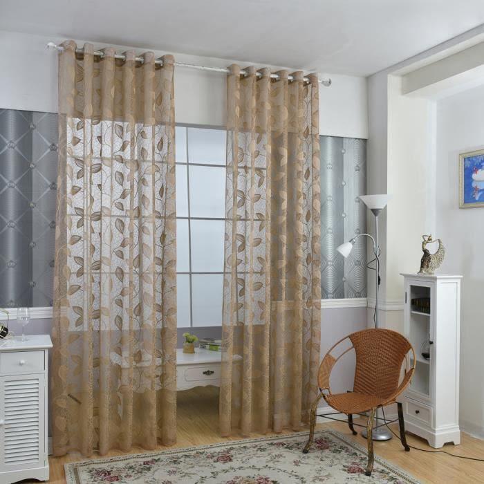 Rideaux élégante fenêtre porte rideaux transparents Voile ...