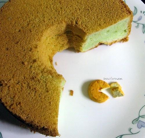 pandan chiffon cake 2