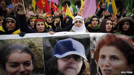 Kurdish demonstrations in Paris on Saturday