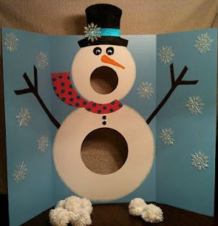 Snowman toss game! SOOO cute