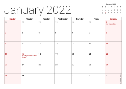 Large Print 2020 Monthly Calendar Printable