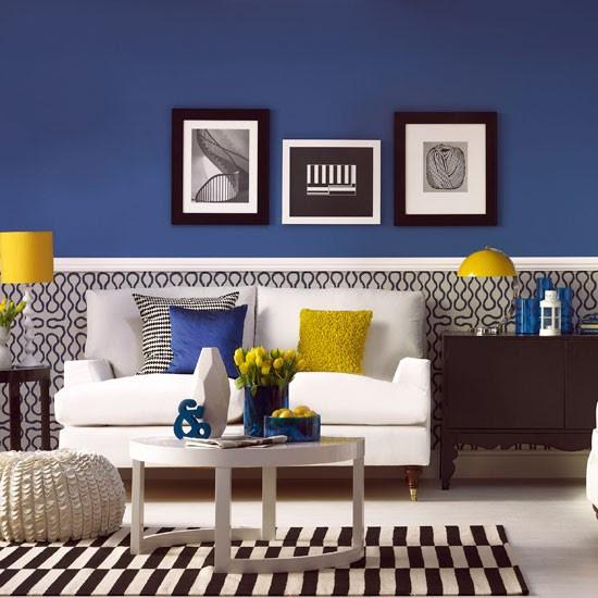Modern blue living room | Living room decoration | housetohome.