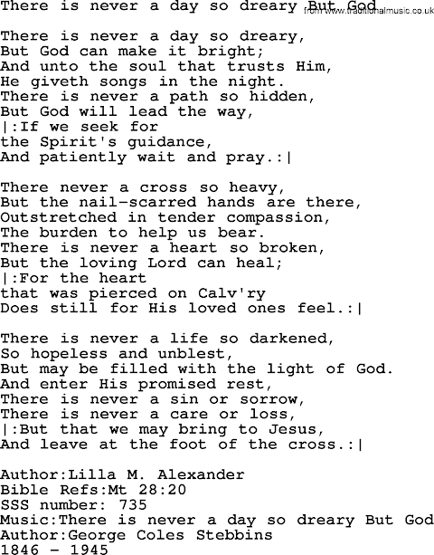 There Is A God Lyrics Hymn