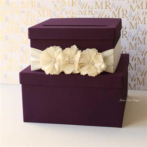 Purple Tiered Wedding Card Box   13 Gorgeous Wedding Card
