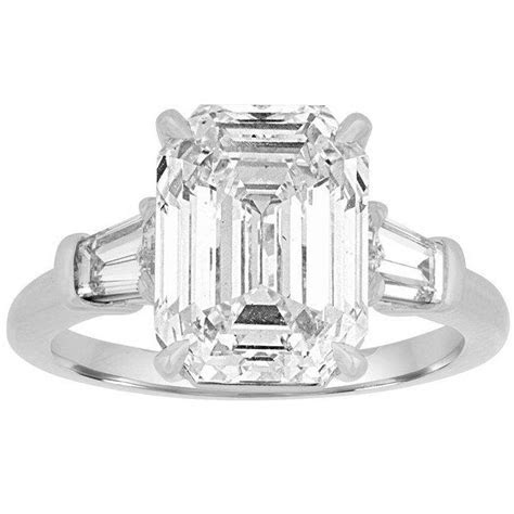 Emerald Cut Engagement Ring with Tapered Baguettes