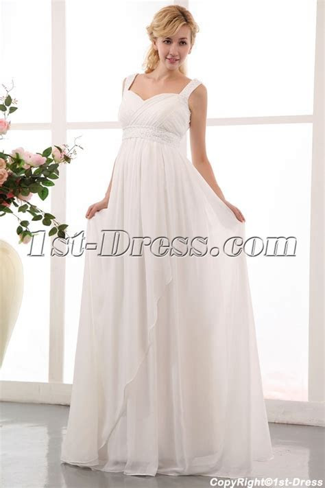 Flowing Straps Long Chiffon Plus Size Maternity/Pregnant