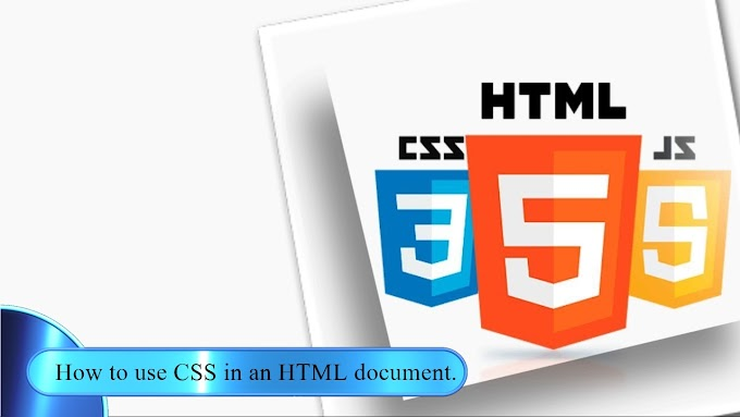 How to use CSS in an HTML document.