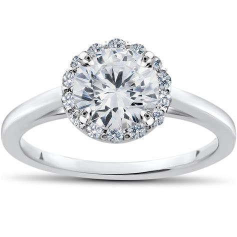 1 ct Lab Grown Diamond Madelyn Halo Engagement Ring 14k