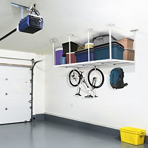 FLEXIMOUNTS 3x6 Heavy Duty Overhead Garage Adjustable Ceiling Storage Rack,