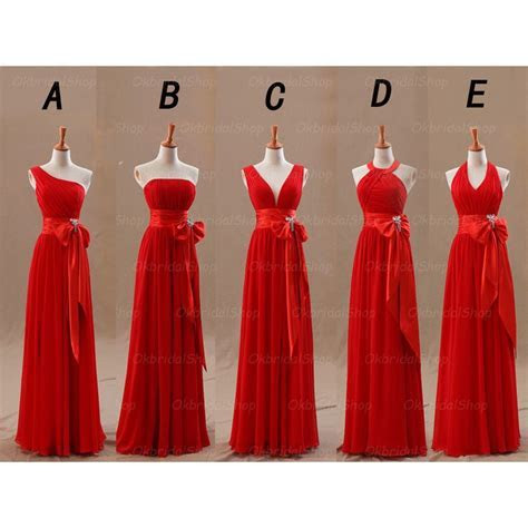 red bridesmaid dresses, long bridesmaid dresses, cheap